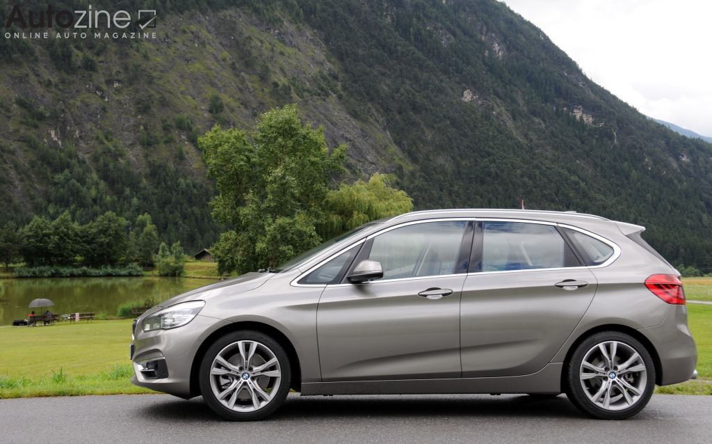 BMW 2-Serie Active Tourer Zijkant