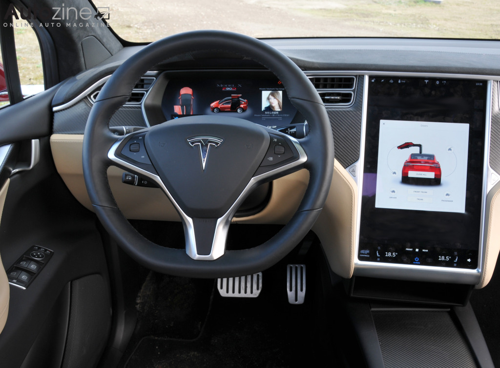 Autozine foto 39 s tesla model x 12 12 for Interieur tesla model s