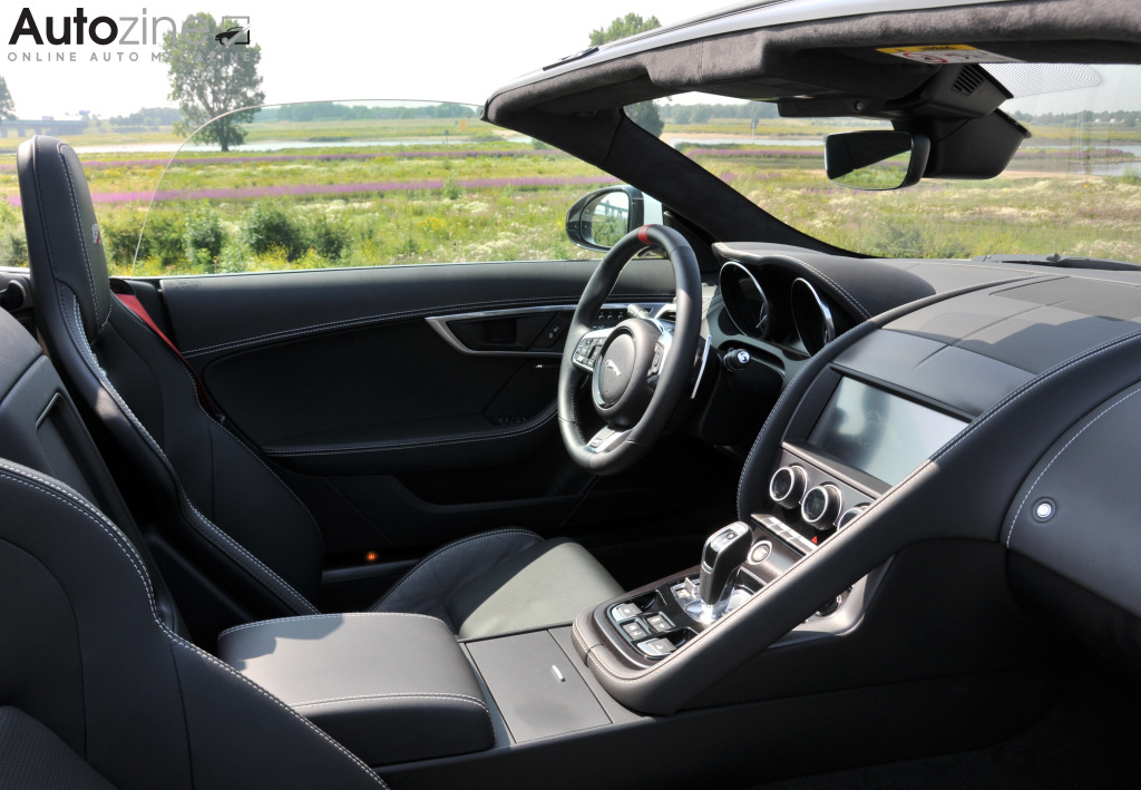 Jaguar F-TYPE Convertible Interieur doorkijk