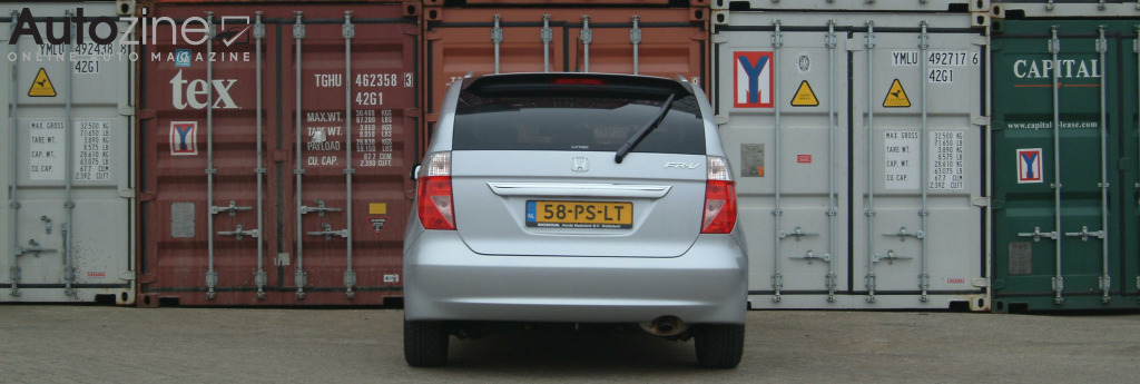 Honda FR-V Containers achterkant breed